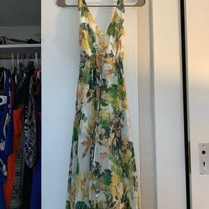 Size small, floral, halter romper dress